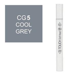 قلم ماركر تاتش برأس لين مزدوج Cool Grey-CG5