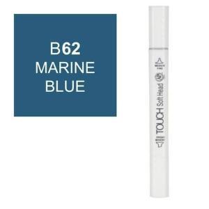 قلم ماركر تاتش برأس لين مزدوج  Marine Blue-62