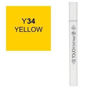 قلم ماركر تاتش برأس لين مزدوج  Yellow-Y34