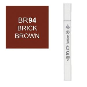 قلم ماركر تاتش برأس لين مزدوج Brick Brown-94