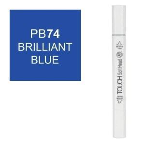 قلم ماركر تاتش برأس لين مزدوج Brilliant Blue-PB74