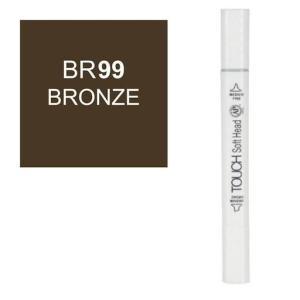 قلم ماركر تاتش برأس لين مزدوج Bronze-BR99