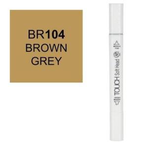 قلم ماركر تاتش برأس لين مزدوج Brown Grey-104
