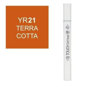 قلم ماركر تاتش برأس لين مزدوج  Terra Cotta-YR21