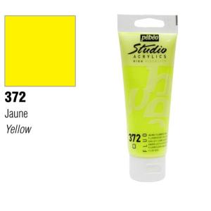 انبوابة اكريلك بيبيو 100مللي اصفر فسفوري رقم Fluorescent Yellow 372