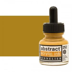 برطمان حبر اكريلك 30 مللي Sennelier رقم 252 لون Yellow Ochre