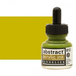 برطمان حبر اكريلك 30 مللي SENNELIER رقم 812 لون   Light Olive Green
