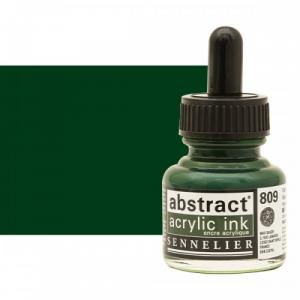 برطمان حبر اكريلك 30 مللي SENNELIER رقم 809 لون     Hookers Green