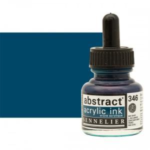 برطمان حبر اكريلك 30 مللي SENNELIER رقم 346 لون     Chinese Blue