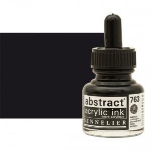برطمان حبر اكريلك 30 مللي SENNELIER رقم 763 لون Carbon Black