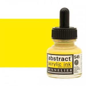 برطمان حبر اكريلك 30 مللي SENNELIER رقم 545 لون       Cadmium Yellow Lemon Hue