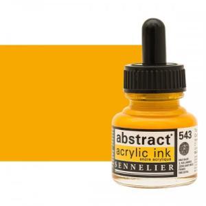 برطمان حبر اكريلك 30 مللي SENNELIER رقم 543 لون Cadmium Yellow Deep Hue