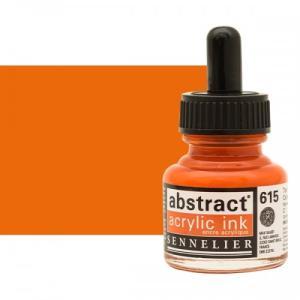برطمان حبر اكريلك 30 مللي SENNELIER رقم 615 لو       Cadmium Red Orange