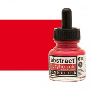 برطمان حبر اكريلك 30 مللي SENNELIER رقم 613 لون Cadmium Red Light
