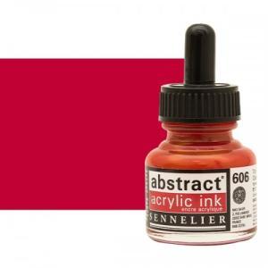 برطمان حبر اكريلك 30 مللي SENNELIER رقم 606 لون     Cadmium Red Deep
