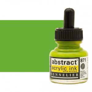 برطمان حبر اكريلك 30 مللي SENNELIER رقم 871 لون    Bright Yellow Green