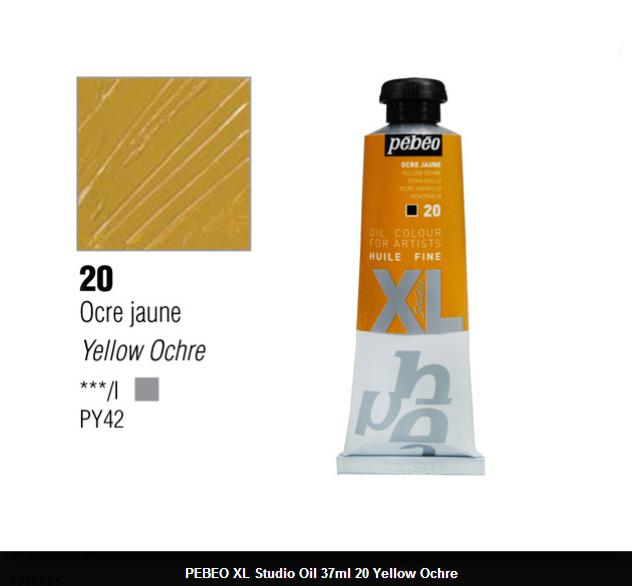 انبوابة زيت XL بيبيو 37 مللي - 20 Yellow Ochre