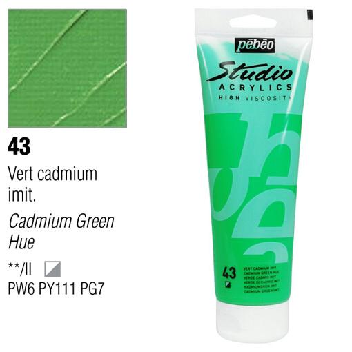 انبوابة اكريلك 250 مللي بيبيو 43 Cadmium Green Hue