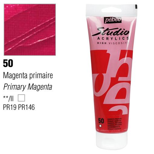 انبوابة اكريلك 250 مللي بيبيو 50 Primary Magenta